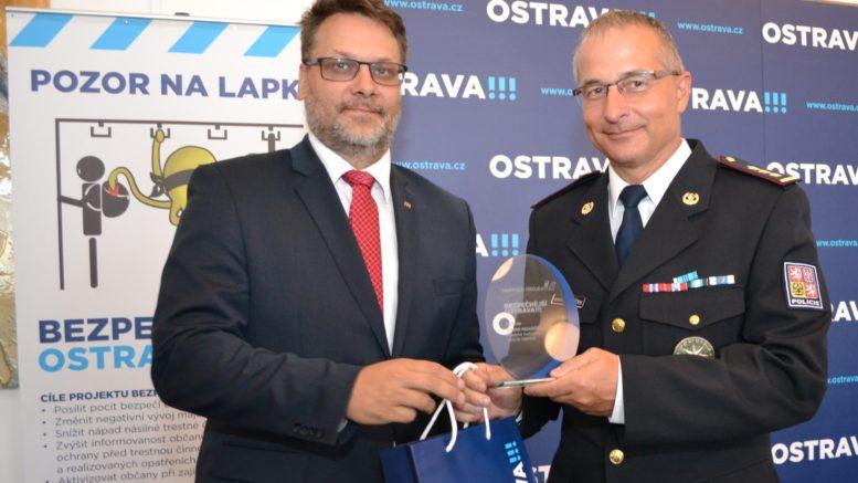 Ocenění certifikátem Partner projektu Bezpečnější Ostrava